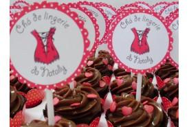 Cupcake personalizado Chá de lingerie