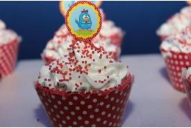Cupcake personalizado Galinha Pintadinha
